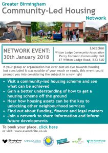 Greater Birmingham Community Led Housing Network - Event 30th Jan
