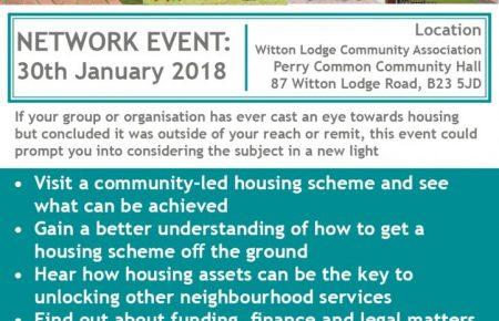 Greater Birmingham Community Led Housing Network - Event 30th Jan