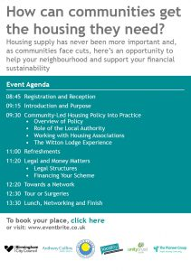 Greater Birmingham Community Led Housing Network - Event 30th Jan2